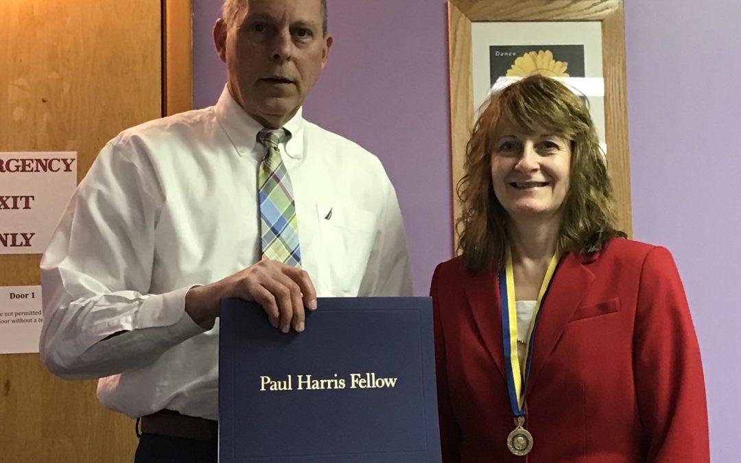 Congratulations Beth Harman – Paul Harris Fellow